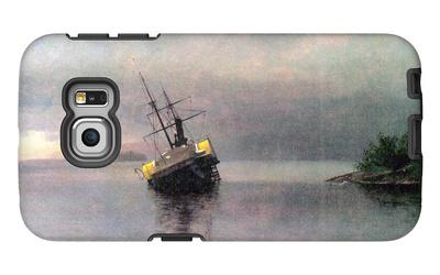 Shipwreck in Loring Bay, Alaska Galaxy S6 Edge Case by Albert Bierstadt