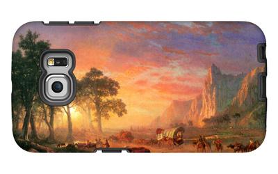 The Oregon Trail Galaxy S6 Edge Case by Albert Bierstadt