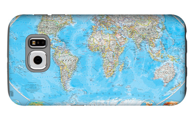 World Political Map Galaxy S6 Case by  National Geographic Maps