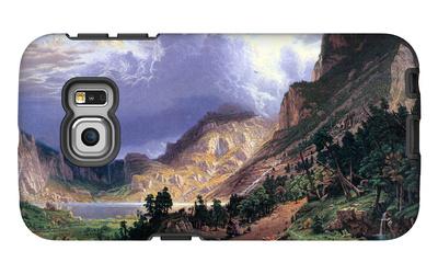 Storm in the Rockies, Mt. Rosalie Galaxy S6 Edge Case by Albert Bierstadt