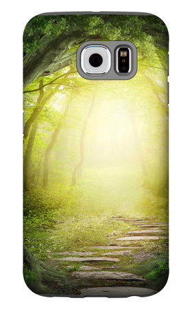 Road In Dark Forest Galaxy S6 Case by  egal