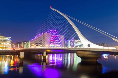 Samuel Beckett Bridge and the Convention Centre Dublin Photographic Print by Chris Hepburn
