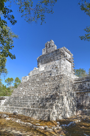 Tabasqueno, Mayan Archaeological Site, Chenes Style, Campeche, Mexico, North America Photographic Print by Richard Maschmeyer