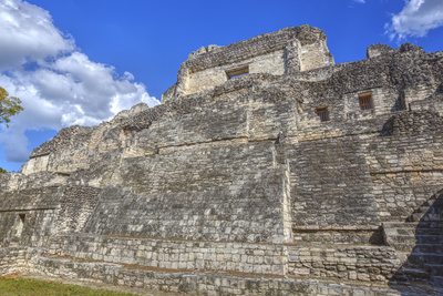 Structure X, Becan, Mayan Ruins, Campeche, Mexico, North America Photographic Print by Richard Maschmeyer