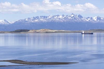 Ushuaia Anchorage, Tierra Del Fuego, Patagonia, Argentina Photographic Print by Peter Groenendijk