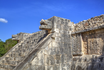 Stairway with Serpent Heads, Platform of Venus, Chichen Itza, Yucatan, Mexico, North America Photographic Print by Richard Maschmeyer