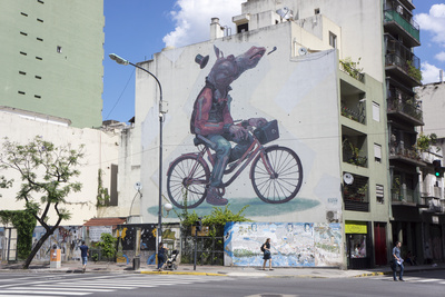 Fun Graffiti, San Telmo, Buenos Aires, Argentina Photographic Print by Peter Groenendijk
