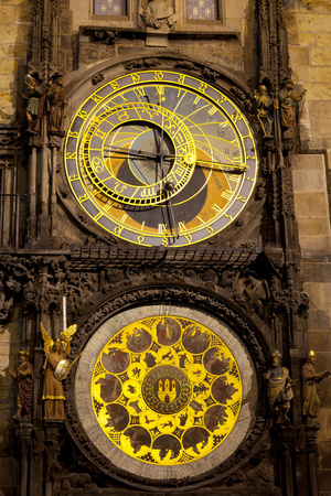 Astronomical Clock on the Town Hall, Old Town Square, Prague, Czech Republic Photographic Print by Miles Ertman