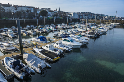 Sport Boat Harbour in Saint Peter Port, Guernsey, Channel Islands, United Kingdom Photographic Print by Michael Runkel