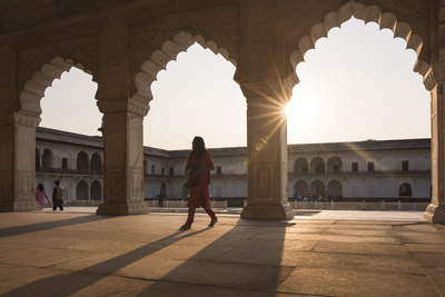 Agra Fort at Sunset, UNESCO World Heritage Site, Agra, Uttar Pradesh, India, Asia Photographic Print by Ben Pipe
