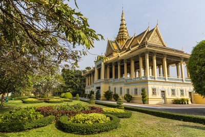 The Moonlight Pavilion, Royal Palace, in the Capital City of Phnom Penh, Cambodia, Indochina Photographic Print by Michael Nolan