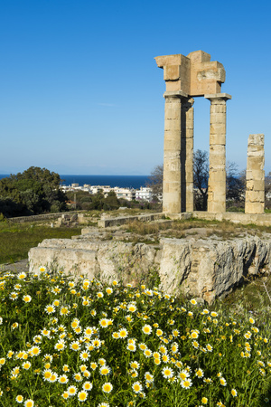 Temple of Apollo at the Acropolis, Rhodes, Dodecanese, Greek Islands, Greece, Europe Photographic Print by Michael Runkel