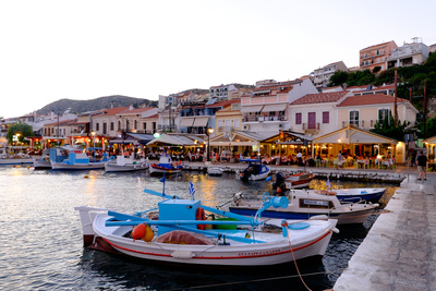 The Port of Pythagorio, Samos Island, North Aegean Islands, Greek Islands, Greece, Europe Photographic Print by Carlo Morucchio