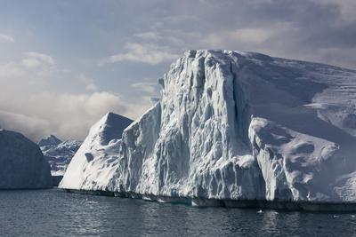 Icebergs in Ilulissat Icefjord, Greenland, Denmark, Polar Regions Fotografická reprodukce