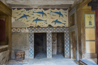 The Ruins of Knossos, the Largest Bronze Age Archaeological Site, Minoan Civilization Photographic Print by Michael Runkel