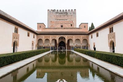 Patio De Arrayanes, Palacios Nazaries, the Alhambra, Granada, Andalucia, Spain Photographic Print by Carlo Morucchio