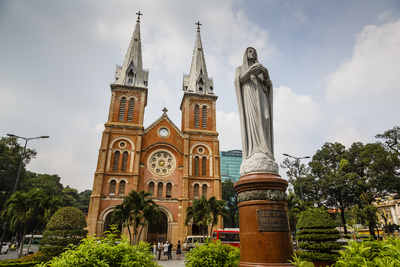 Notre Dame Cathedral, Ho Chi Minh City (Saigon), Vietnam, Indochina, Southeast Asia, Asia Photographic Print by Yadid Levy