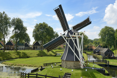 Traditional Dutch Windmill, Zuiderzee Open Air Museum, Lake Ijssel Photographic Print by Peter Richardson