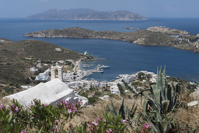 Gialos from Chora, Ios, Cyclades, Greek Islands, Greece Photographic Print by Rolf Richardson