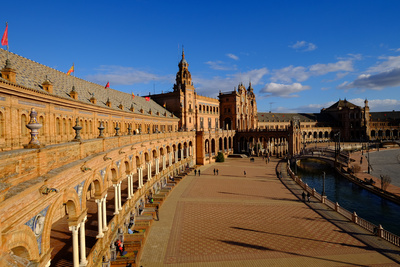 Plaza De Espana, Built for the Ibero-American Exposition of 1929, Seville, Andalucia, Spain Photographic Print by Carlo Morucchio