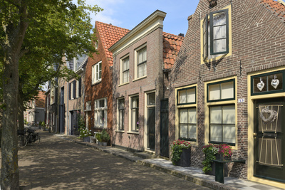Street of Uniquely Individual Dutch Houses, Zuider Havendijk, Enkhuizen, North Holland, Netherlands Photographic Print by Peter Richardson
