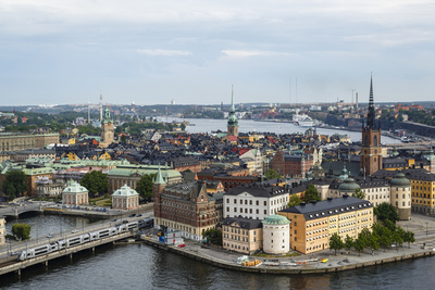 Skyline View over Gamla Stan, Riddarholmen and Riddarfjarden, Stockholm, Sweden Photographic Print by Yadid Levy