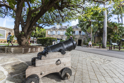 Small Cannon in the Courtyard, James Fort, St. Johns, Antigua, Leeward Islands, West Indies Photographic Print by Roberto Moiola