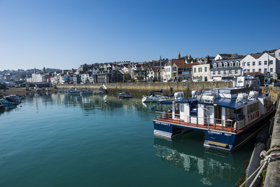 Seafront of Saint Peter Port, Guernsey, Channel Islands, United Kingdom Photographic Print by Michael Runkel