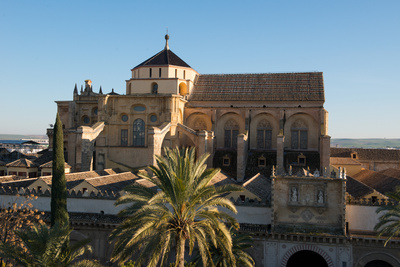 Patio De Los Naranjos and the Mezquita Cathedral Seen from its Bell Tower Photographic Print by Carlo Morucchio