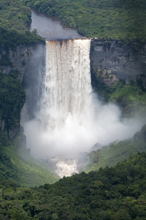 Aerial View of Kaieteur Falls in Full Spate, Guyana, South America Photographic Print by Mick Baines & Maren Reichelt