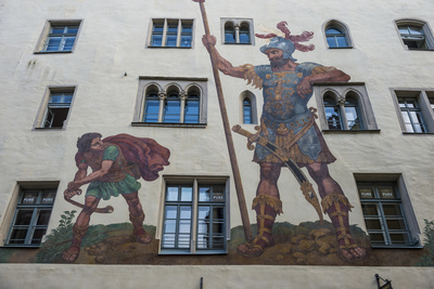 Goliath House, Regensburg, Bavaria, Germany Photographic Print by Michael Runkel