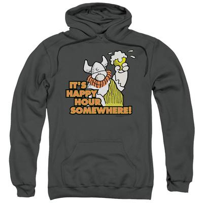 Hoodie: Hagar The Horrible- Happy Hour Pullover Hoodie