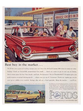 Ford 1959 Best Buy in Market Prints