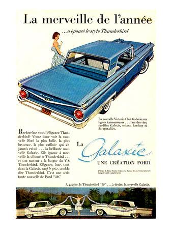 Ford 1959 Galaxie Merveille Print