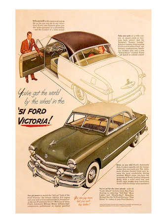 51 Ford Victoria-By the Wheel Prints