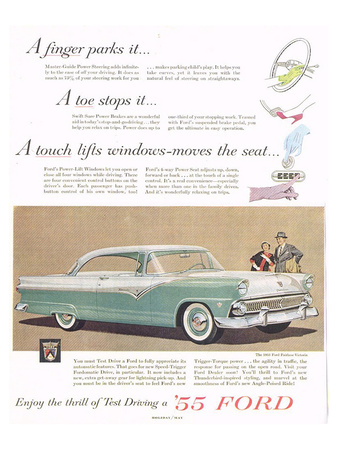 Ford 1955 a Finger Parks it Posters