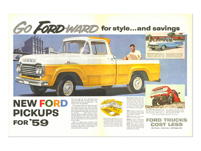 Ford 1959 Go Forward for Style Poster