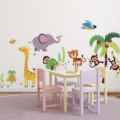 Tumble in the Jungle Wall Decal