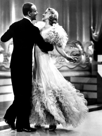Swing Time, Fred Astaire, Ginger Rogers, 1936 Kunst op metaal