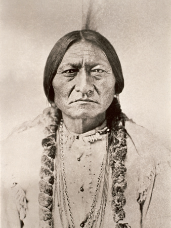 Sitting Bull Lámina en metal