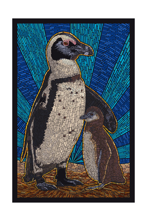 Penguin - Mosaic Posters by  Lantern Press