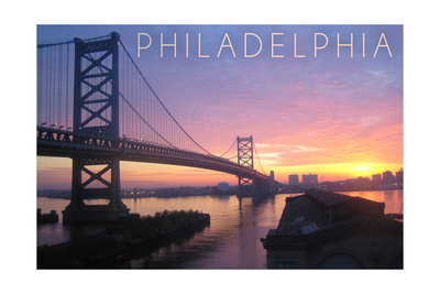 Philadelphia, Pennsylvania - Ben Franklin Bridge Posters by  Lantern Press