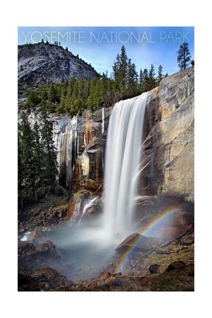 Yosemite National Park, California - Vernal Falls Prints by  Lantern Press