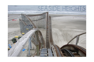 Seaside Heights - Roller Coaster Construction 2 Posters by  Lantern Press