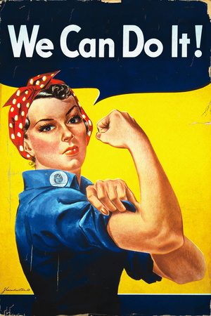 Rosie the Riveter - We Can Do It! - Poster Art by  Lantern Press