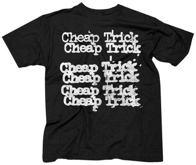 Cheap Trick- Stacked Logo T-shirts