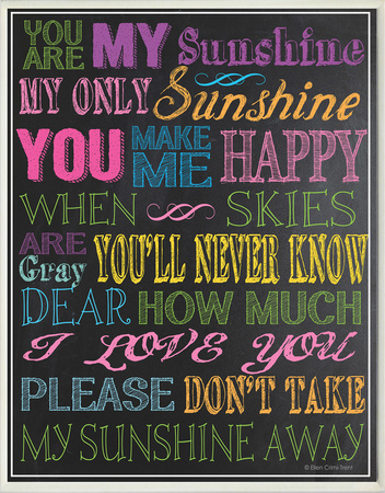 You Are My Sunshine - Black Wood Sign