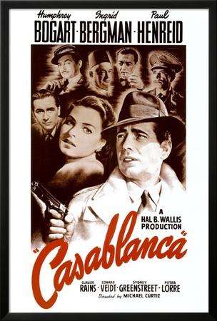 Casablanca Póster enmarcado con Lamina
