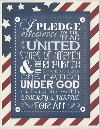 Pledge of Allegiance Wood Sign