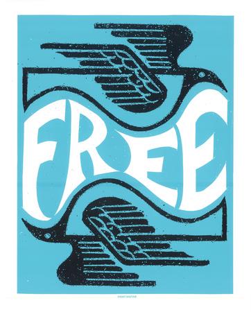Free Birds Serigraph by  Print Mafia